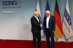 Federal Foreign Minister Dr Frank-Walter Steinmeier welcomes Boris Johnson Stock Photo