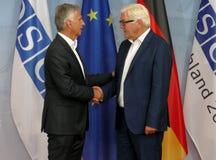 Federal Foreign Minister Dr Frank-Walter Steinmeier welcomes Didier Burkhalter Stock Photo