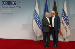 Federal Foreign Minister Dr Frank-Walter Steinmeier welcomes Edward Nalbandian Stock Image