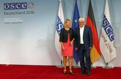 Federal Foreign Minister Dr Frank-Walter Steinmeier welcomes Federica Mogherini Stock Photos