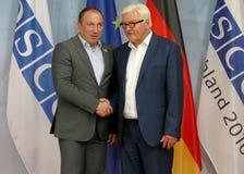 Federal Foreign Minister Dr Frank-Walter Steinmeier welcomes Igor Crnadak Stock Photography