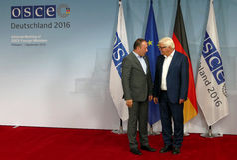 Federal Foreign Minister Dr Frank-Walter Steinmeier welcomes Igor Crnadak Royalty Free Stock Photo