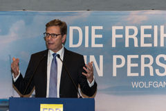 Federal Foreign Minister Dr. Guido Westerwelle Stock Photo