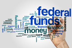 Federal funds word cloud concept on grey background Royalty Free Stock Photo