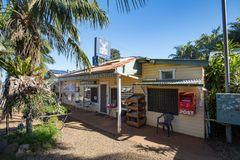 Federal General Store in NSW. Federal, Australia - April 9 2018: Federal General Store in the quanit town of Federal in NSW, Australia stock photo