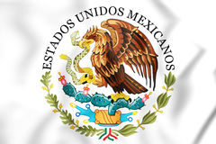 Federal Government of Mexico Seal. Stock Photos