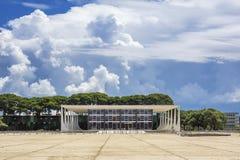 Federal högsta domstolen i Brasilia, huvudstad av Brasilien Royaltyfri Bild