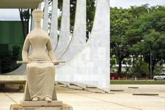 Federal högsta domstolenbyggnad i Brasilia, huvudstad av Brasilien Royaltyfri Fotografi