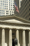 Federal Hall. On Wall street, Manhattan, New York City, USA Royalty Free Stock Photography