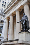 Federal Hall. And Washington statue in Manhattan Financial District Royalty Free Stock Images