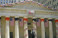 Federal Hall with decorations on Liberty Weekend, New York City, NY Stock Photography