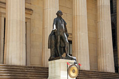 Federal Hall National Memorial. Statue of George Washington - Federal Hall National Memorial, New York City, USA royalty free stock images