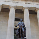 Federal Hall National Memorial. George Washington's statue, Federal Hall National Memorial, New York City, New York, USA royalty free stock images