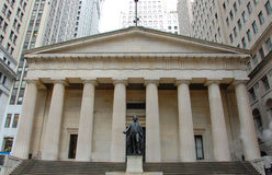 Federal Hall National Memorial, NYC. Federal Hall National Memorial on Wall Street, Manhattan, New York City, USA Stock Photos