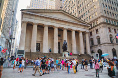Federal Hall National Memorial on Wall Street in New York Stock Images