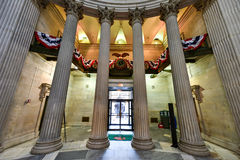 Federal Hall - New York City. Interior of the Federal Hall on Wall Street. George Washington took the oath of office as first President, and this site was home Royalty Free Stock Image