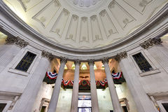 Federal Hall - New York City. Interior of the Federal Hall on Wall Street. George Washington took the oath of office as first President, and this site was home royalty free stock photos