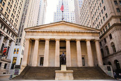 Federal Hall. On Wall street, Manhattan, New York City, USA royalty free stock images
