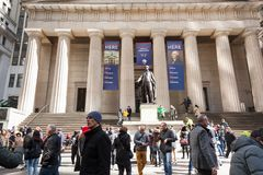 Federal Hall Wall Street royalty free stock images