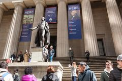 Federal Hall Wall Street stock photos