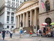 The Federal Hall in Wall Street  ,New York Royalty Free Stock Images