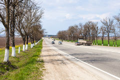 Federal highway Krasnodar - Novorossiysk Royalty Free Stock Photo