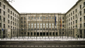 Federal Ministry of Finance, Berlin. The facade to the German Federal Ministry of Finance, Berlin, in the snow Stock Photos