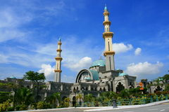 Federal Mosque. Modern Islamic structure based on turkish style, can be use for architecture or religious or culture purpose Royalty Free Stock Photo