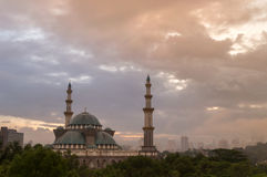 Federal Mosque of Kuala Lumpur, Malaysia. Taken during early morning hour Stock Photo