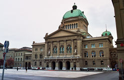 Federal palace of Bern, sedates of the Swiss gove Royalty Free Stock Photography
