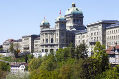 The Federal Palace building in Bern in Switzerland Stock Photos