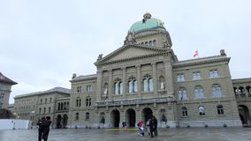 The Federal Palace, Switzerland stock photos