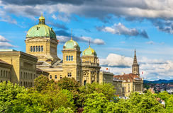 The Federal Palace of Switzerland. In Bern Royalty Free Stock Images