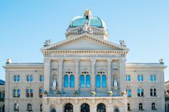Federal Palace of Switzerland stock images
