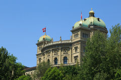 Federal Parliament Building in Bern Royalty Free Stock Photo