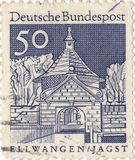 Federal Post. German postage stamp Federal Post Royalty Free Stock Photo