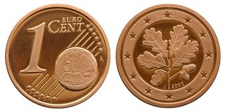 Federal Republic of Germany 1 cent 2001 stock photography