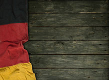 Federal Republic of Germany. Flag of the Federal Republic of Germany on old wooden planks Royalty Free Stock Image