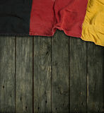 Federal Republic of Germany. Flag of the Federal Republic of Germany on old wooden planks Stock Photos
