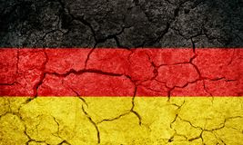 Federal Republic Of Germany flagga Fotografering för Bildbyråer