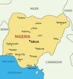 Federal Republic of Nigeria - map - vector Stock Photo