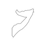 Federal Republic of Somalia. On the white background. Vector illustration Royalty Free Stock Photos