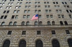Federal Reserve bank av New York Tom Wurl Arkivbilder