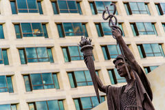 Federal Reserve Bank Statues in Kansas City Stock Image