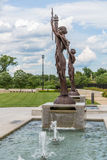 Federal Reserve Bank Statues in Kansas City stock photography