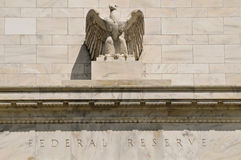 Federal Reserve building. In washington DC with eagle Royalty Free Stock Images