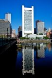 Federal reserve building in boston. Daytime view of the federal reserve building in boston, massachussets Royalty Free Stock Photography