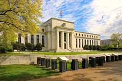 The Federal Reserve Building. In Washington, DC royalty free stock photos