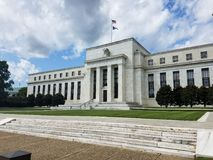 Federal Reserve Building in Washington DC, United States of Amer. Federal Reserve Building on the Constitution Avenue in Washington DC, United States of America Royalty Free Stock Photography