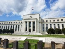 Federal Reserve Building in Washington DC, United States of Amer. Federal Reserve Building on the Constitution Avenue in Washington DC, United States of America stock photography